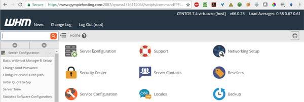 Gympie Hosting WHM Server Management
