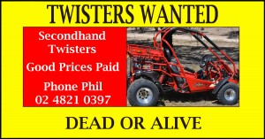 Twister carts - Wanted to Buy - Contact Phil on 02 4821 0397